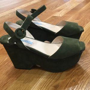 Prada wedge sandals.  EUC